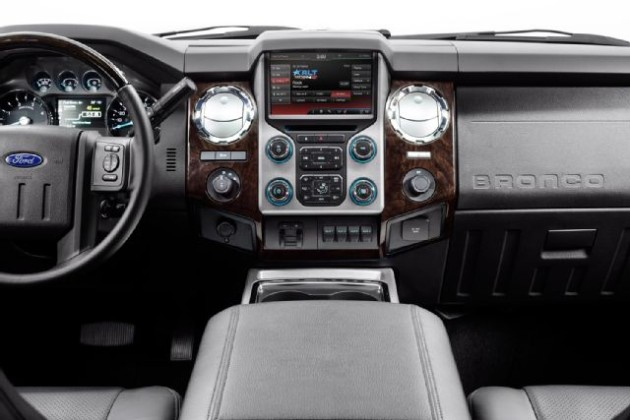 2016 Ford Bronco interior