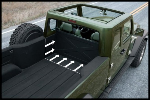 2016 Jeep Gladiator cargo space