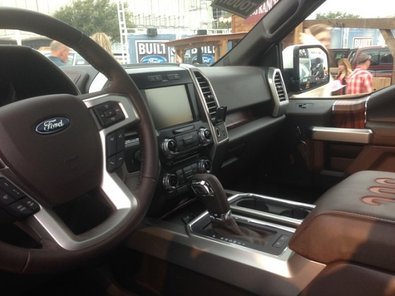 2016 King Ranch Ford F-150 inside